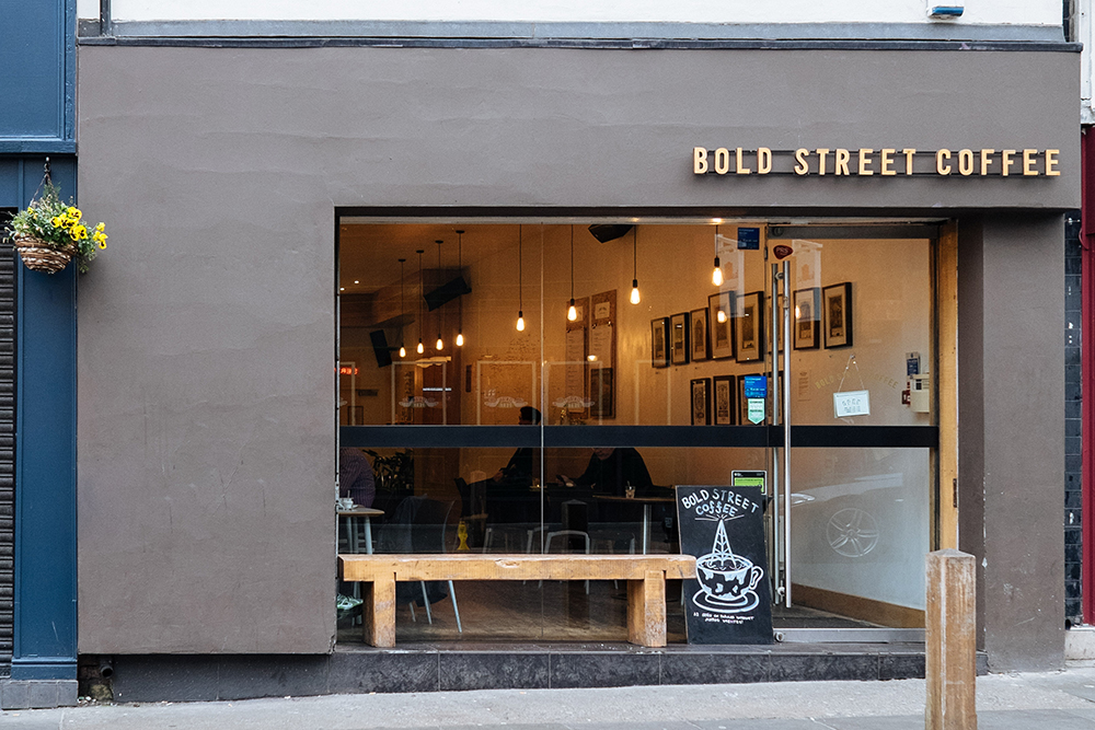 Bold Street Coffee Shop, Liverpool